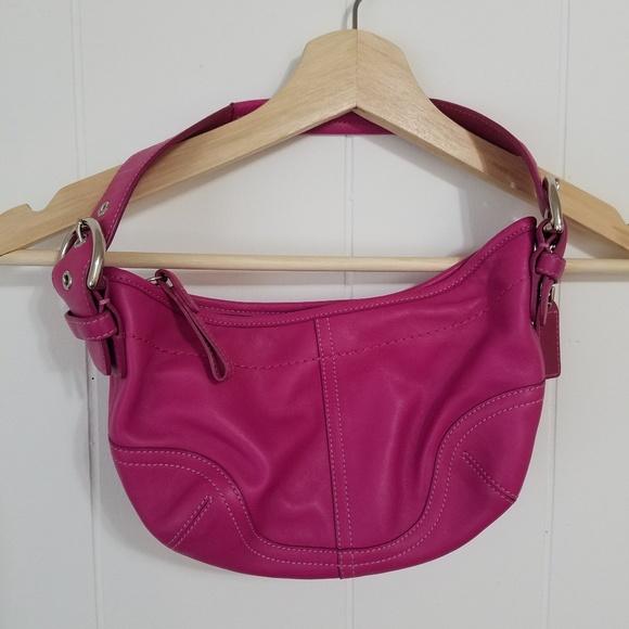Coach Handbags - Coach Pink/Magenta Mini Hobo Purse